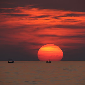 fisherman by Ante Buric - Landscapes Sunsets & Sunrises