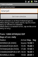 Screenshot of PNR status pro
