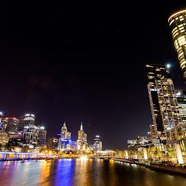 CBD- Melbourne by Madhujith Venkatakrishna - City,  Street & Park  Skylines