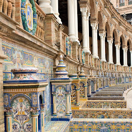 Palace of Spain_01 by Barbara Sajnog - Buildings & Architecture Architectural Detail ( palace of spain, tile, seville, palace, spain )