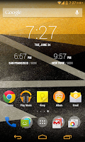 Screenshot of Yellow Gold CM11 theme