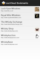 Screenshot of ownCloud Bookmarks