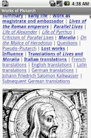 Screenshot of Works of Plutarch