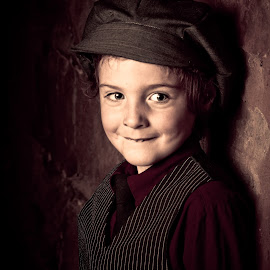 Steampunk Boy by Phillip Campbell - People Portraits of Men ( child, vintage, steampunk, boy, portrait )