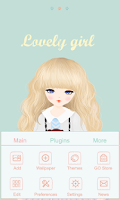 Screenshot of Lovely Girl GO Launcher Theme