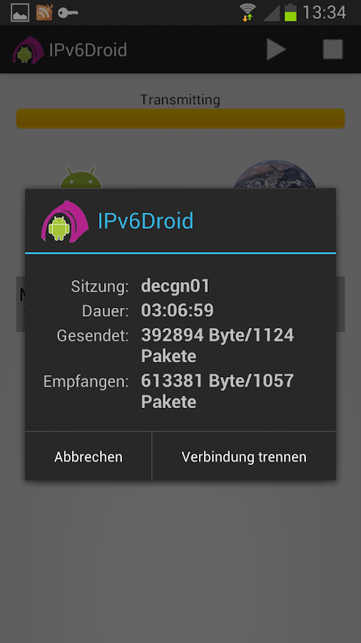 IPv6Droid Screenshot 0