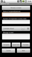 Screenshot of SMS for free, Email to SMS