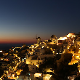 Sunset @ Oia by Duncan Song Hui - Landscapes Sunsets & Sunrises ( sunset, greece, oia, santorini )
