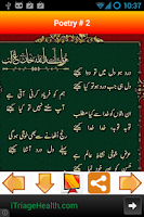 Screenshot of Mirza Ghalib Urdu Poetry