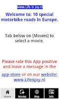 Screenshot of Best motorcycle roads Europe