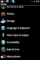 Screenshot of ICS 3D Blue CM7 Theme
