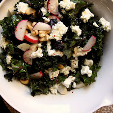 Kale Cherry and Cashew Salad