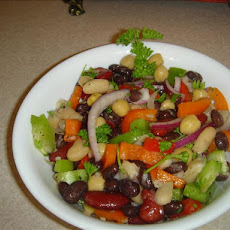 Bean Salad and Sun-Dried Tomato Dressing