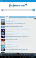 Screenshot of jigbrowser+ - Fast Tab Browser