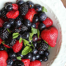 Mixed Berries and Mint with Berry Shrub