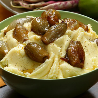 Mashed Yukon Gold Potatoes with Caramelized Shallots
