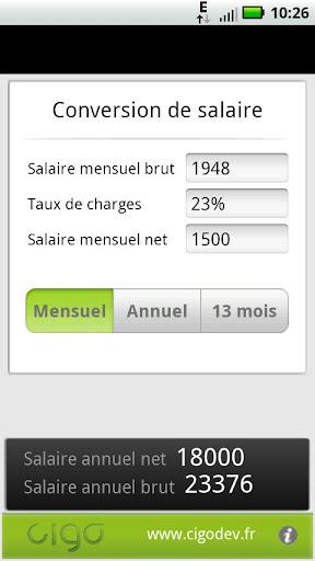 Salaire BrutNet