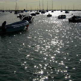 Boats in Mersea by Richard Lawes - Novices Only Landscapes