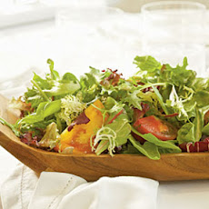 Fresh Lettuces and Heirloom Tomatoes with Chèvre Green Goddess Dressing