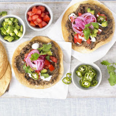 Black Bean Tostadas With Avocado Salsa