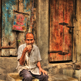 The old man by Yash Parekh - City,  Street & Park  Street Scenes (  )