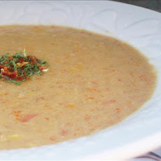 Creamy Corn and Turkey Soup
