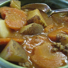 Hearty Hamburger Soup ( Crock Pot )