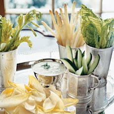 White Crudites with Buttermilk Dip