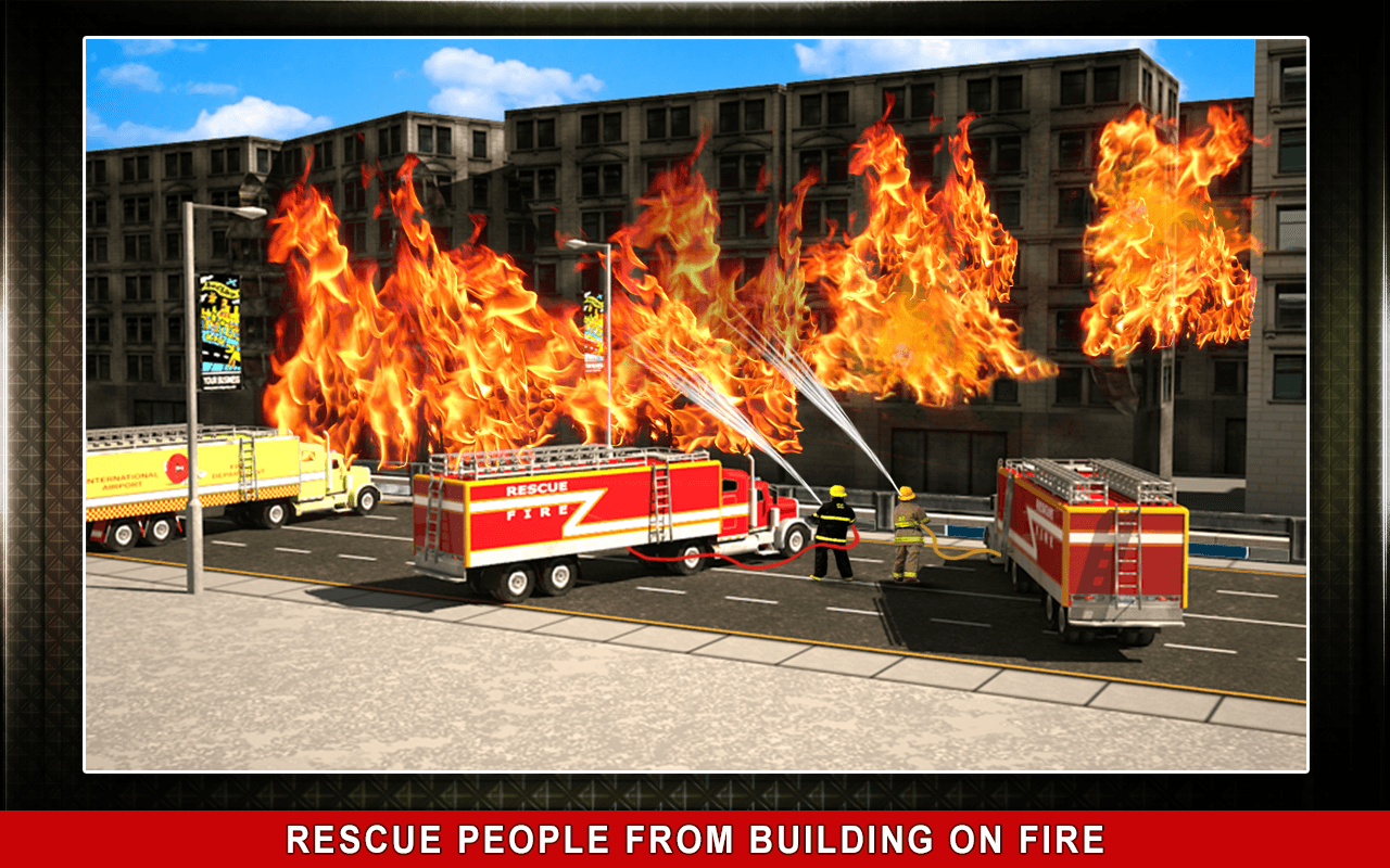 911 Rescue Fire Truck 3D Sim Screenshot 7
