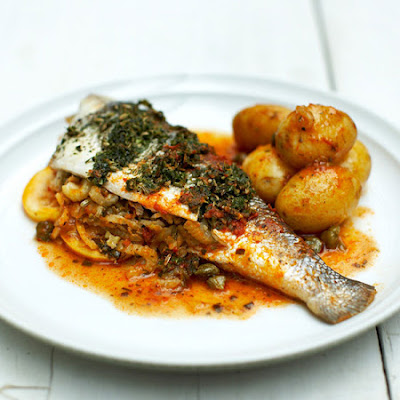 Stuffed Sea Bass
