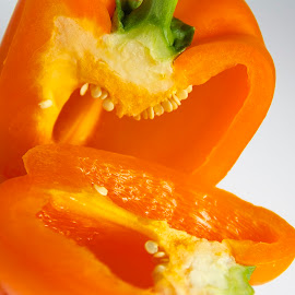 Orange Pepper by Samantha Delargy - Food & Drink Fruits & Vegetables ( fruit, food, pepper, vegetable,  )