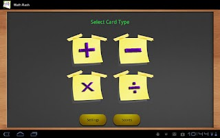 Screenshot of Math flash cards (Tablet)