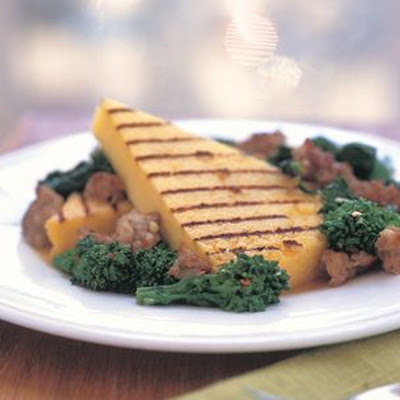 Grilled Polenta with Sausage
