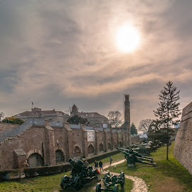 by Milos Vasic - City,  Street & Park  Historic Districts ( world war, wwii, belgrade, tribute, heavy, museum, memory, fortress, sunset, siege, preserved, weapons, artillery )