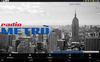 Screenshot of Radio Metrò