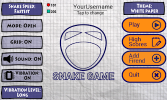 Screenshot of Snake Game