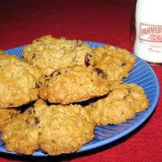 Mixed Fruit Oatmeal Cookies