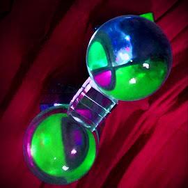 Beautiful Balls by Cecilia Sterling - Artistic Objects Still Life ( mirror, reflection, rubix, meditation ball, cube )