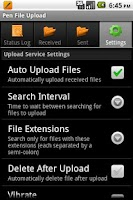 Screenshot of Pen File Upload