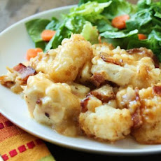 Cheesy Chicken, Bacon & Tater Tot Crock Pot Bake