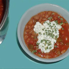 Different Baked Beans With Orange & Salsa