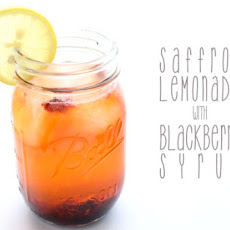 Saffron Lemonade with Blackberry Syrup
