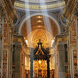 Saint Peter's Basilica Altar by David Harris - Buildings & Architecture Places of Worship