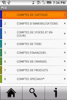 Screenshot of PCG - Plan comptable général