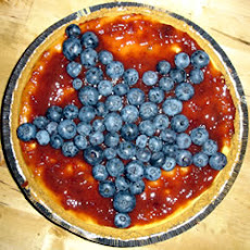 Red, White, and Blueberry Cheesecake Pie