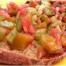 Tomatoes and Celery on Toasted Bread