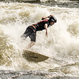 by Samuel DiChiara - Novices Only Sports ( water, surfer, waves, surf, river )