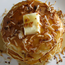 White Chocolate Coconut Pancakes