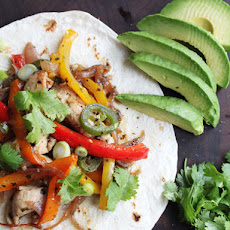 Skillet Chicken Fajitas with Avocado