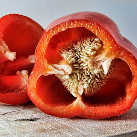 Sweet Red Pepper by Darlene Stewart - Nature Up Close Gardens & Produce ( sweet red pepper )
